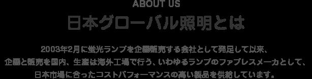 about us 日本グローバル照明とは